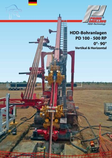 HDD-Bohranlagen PD 100 - 500 RP 0°- 90° - Prime Drilling GmbH