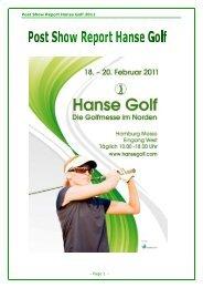 Post Show Report Hanse Golf 2011 - Page 1 - - Hanse Golf Hamburg