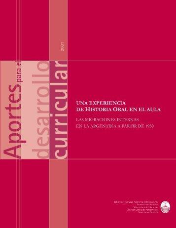 Una experiencia de Historia Oral en el aula - Buenos Aires Ciudad