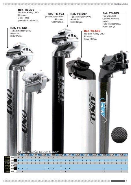 TE379-26 Tija sillin BTT Aluminio plata KALLOY UNO