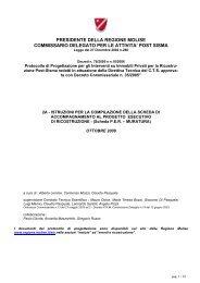 presidente della regione molise commissario delegato per
