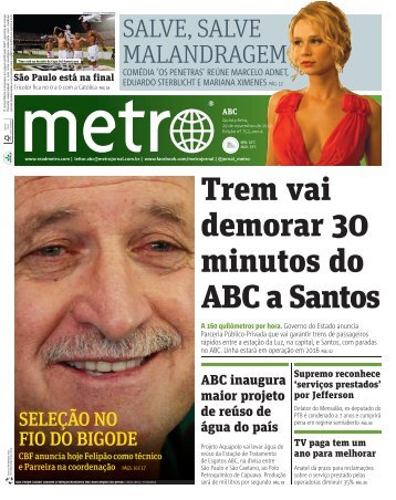 Trem vai demorar 30 minutos do ABC a Santos - Metro