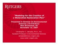 Modeling for the Creation of a Watershed Restoration Plan - Rutgers ...