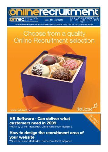Issue 111 - April 2009 - Online Recruitment Magazine