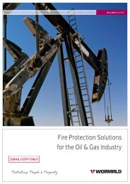 Oil & Gas Industry Solutions - Wormald New Zealand