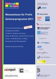 Details zu allen Seminaren der Seminar-Allianz und Anmeldung (PDF)