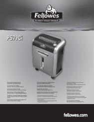 PS-79Ci Manual - Fellowes