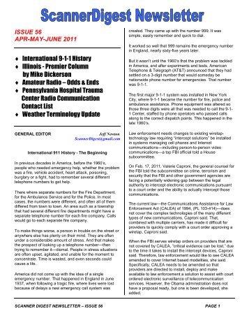 Issue 56 - Scanner Digest Newsletter