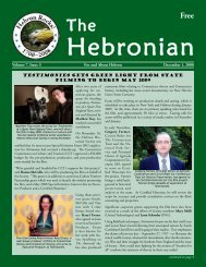 The Hebronian December 2008 Page 1 Volume 7, Issue 3 ... - Gulemo