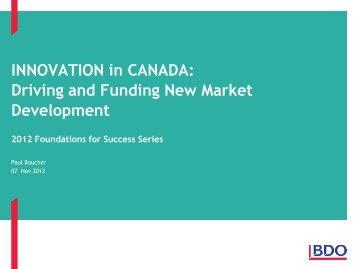 Paul Boucher Associate, Special Advisory Services, BDO Canada LLP
