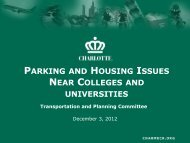 parking and housing issues near colleges and universities