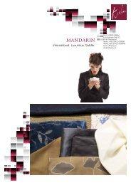product sheet - MANDARIN collection - Rolf Krebs GmbH