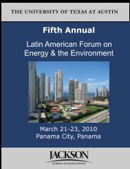 Fifth Annual Latin American Forum on Energy & the Environment ...