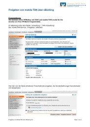 mobile-TAN für Online-Banking-Nutzer - VR-Bank Rothenburg