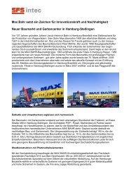Max Bahr setzt ein Zeichen für Innovationskraft und ... - SFS intec