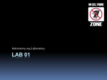 Lab 01 - Physics & Astronomy