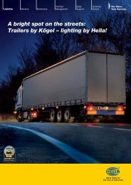 A bright spot on the streets: Trailers by Kögel ... - hella.shop.hu