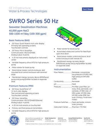 SWRO Series 50 Hz - SALAM Enterprises
