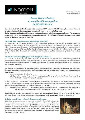 Baiser Volé de Cartier: La nouvelle référence parfum de NOMEN ...