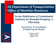 In situ Stabilization of Contaminated Sediments for Remedial Dredging