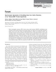Spectroscopic Approaches to Elucidating Novel Iron-Sulfur ...