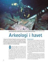 Arkeologi i havet - Havet.nu