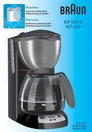 KF 590 E KF 580 - Braun Consumer Service spare parts use ...
