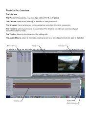 Final Cut Pro Overview - Spatial Design@Massey