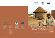 Indigenous Knowledge for Disaster Risk Reduction - auedm