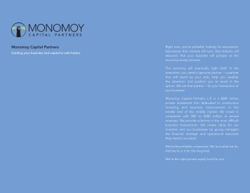 Download a PDF of About Us - Monomoy Capital Partners