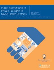 Public Stewardship of Private Providers in Mixed Health Systems