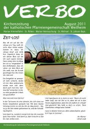 Kirchenzeitung August 2011 der katholischen Pfarreiengemeinschaft
