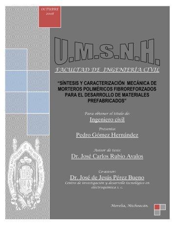sintesis y caracterizacion mecanica de morteros polimericos ...