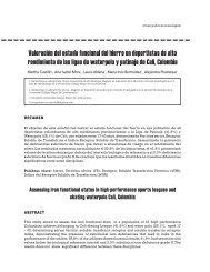 Valoración del estado funcional del hierro en deportistas de alto ...