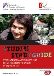 Vorwort - Pädagogische Hochschule Weingarten