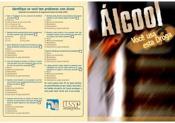 Alcoolismo - Hospital Universitário – USP