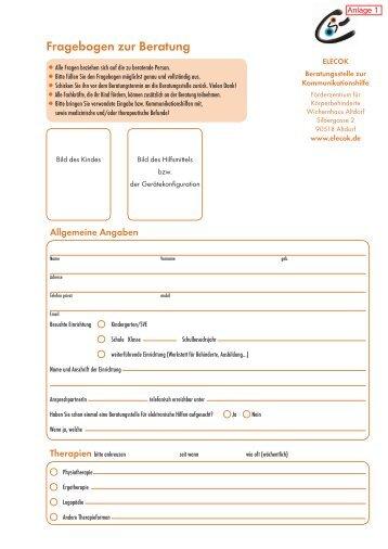 Fragebogen zur Beratung - Förderzentrum für Körperbehinderte ...