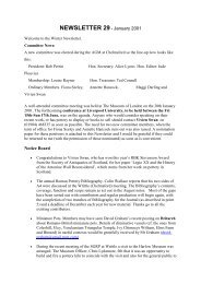 NEWSLETTER 29 - January 2001 - Study Group for Roman Pottery