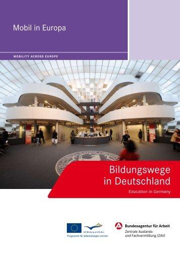 Bildungswege in Deutschland - Education in Germany