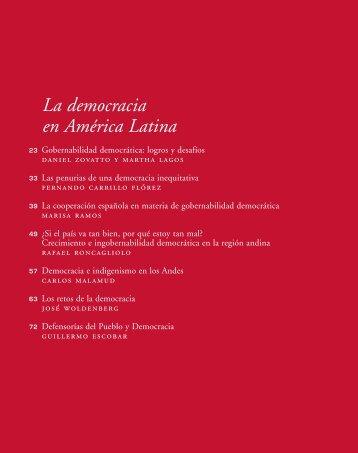 La democracia en América Latina - Unión Iberoamericana de ...