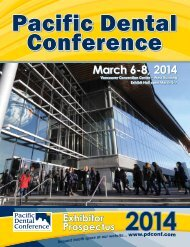 March 6-8, 2014 - Pacific Dental Conference