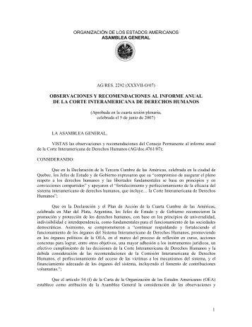 Observaciones y recomendaciones al informe anual de la ... - Acnur