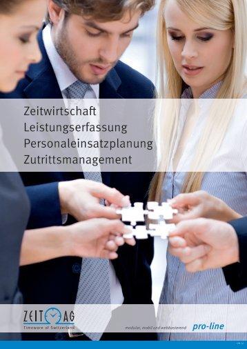 Prospekt pro-line - Zeit AG