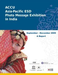 Report of ACCU Asia/Pacific ESD Photo Message Exhibition in India