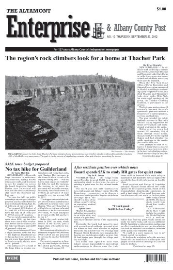 & Albany County Post - The Altamont Enterprise