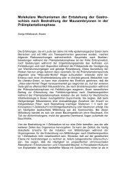 Molekulare Mechanismen der Entstehung der Gastroschisis nach ...