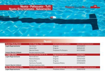Nuoto - Pallanuoto - Comune di Savona