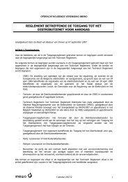 reglement betreffende de toegang tot het distributienet voor ... - Eandis
