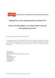 Herziene SWAB-richtlijnen voor antimicrobiële therapie bij thuis ...