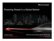 Powering Ahead in a Global Market - Inchcape